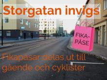 Invigning av Storgatan tisdag 10 november