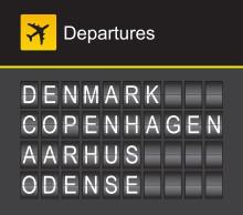 Danske erhvervsfolk flyver mest indenrigs