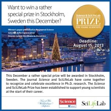 The Science & SciLifeLab Prize for Young Scientists Awards Ceremony