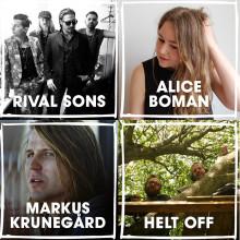 Krunegård, Kidjo, Karlsson, Boman, Rival Sons & Helt Off till Malmöfestivalen!