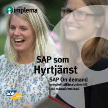 Broschyr: SAP som hyrtjänst - komplett affärssystem till fast månadskostnad
