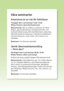 Apotekets seminarier i Almedalen 2014