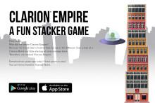 Clarion Hotel lanserar ett eget mobilspel, Clarion Empire, i samarbete med prisbelönade spelstudion Hello There