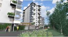 Godkänd detaljplan för bostäder i fyra skivhus vid Kvarnvägen