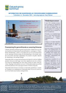 Nyhetsbrev 6 - Om Projekt Sanering av Oskarshamns hamnbassäng