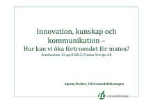 Presentation Agneta Dreber_Findus Matseminarium 11 april 2012