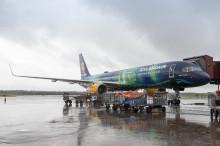 Icelandairs Hekla Aurora på finbesök i Sverige i dag.