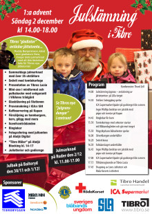 Flygblad - Julstämning i Tibro 2012