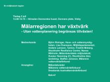 Inbjudan seminarium om vattenplanering, Almedalen 2 juli kl. 13-14.15