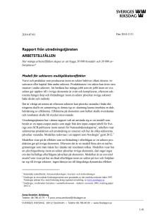 Rapport från riksdagens utredningstjänst