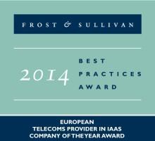 Interoute erhåller utmärkelsen 2014 IaaS Telecom Provider of the Year av Frost & Sullivan