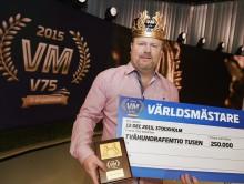 Årets världsmästare i V75 är Magnus Strömsten