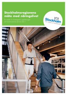 Stockholmsregionens möte med näringslivet - företagarnas uppfattning om kommunernas service