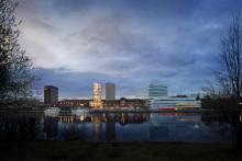 Spektakulärt höghus i Umeå centrum