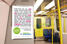 1 608 skyltar i t-banan ska få fler stockholmare att starta företag