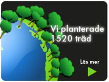 1520 nya träd - tack vare er