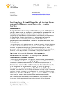 SKL:s yttrande till Socialstyrelsens förslag till föreskrifter