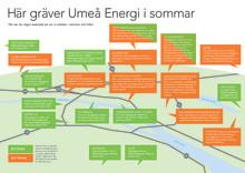 Umeå Energi investerar i Umeås infrastruktur - här gräver vi i sommar