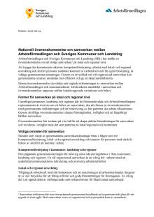 Samarbetsavtalet mellan SKL och Arbetsförmedlingen
