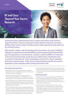 BT / Cisco - Beyond Your Device Research Summary