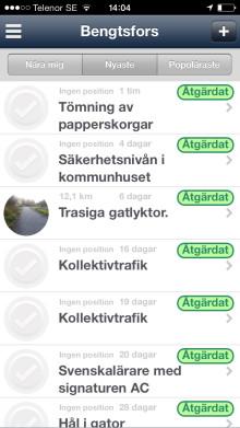 Bengtsfors först med synpunktshantering via Munizapp