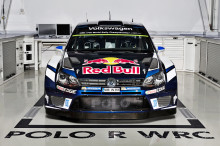 Finjustering av Polo R WRC inför nya säsongen av rally-VM