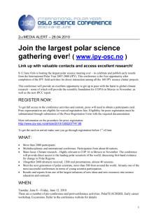Träffa polarforskare på den största polarforskningskonferensen någonsin