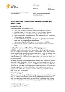 Boverkets förslag till strategi för miljökvalitetsmålet God bebyggd miljö