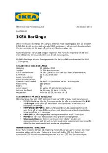 Fakta IKEA Borlänge