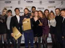 Guld och Silver för Mynewsdesk och Edelman Deportivo på Spinn 2015!