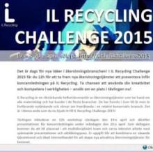 IL Recycling Challenge 2015 – rekryteringen har börjat!