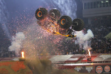 Monster Jams fyrhjuliga superstjärnor är här.  Line up helgens motorfest på Friends Arena