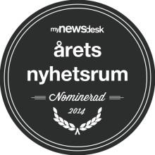 Swecon nominerat till Årets nyhetsrum 2014