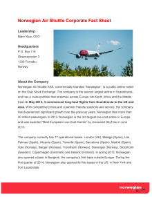 Corporate Fact Sheet Juni 2014