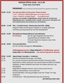 Program Östgötamässan häst 2014