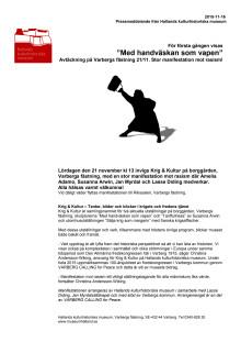 Pressmeddelande från Hallands kulturhistoriska museum