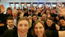 Piratpartiet håller valvaka för EU-valet i Stockholm