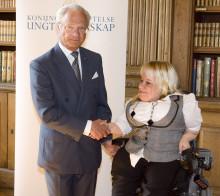 Veronica Hedenmark besöker slottet under en workshop om värdebaserat ledarskap