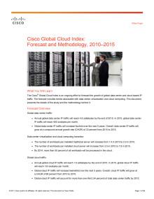 Cisco Cloud Index White paper