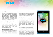 Rebtel for Windows Phone 7
