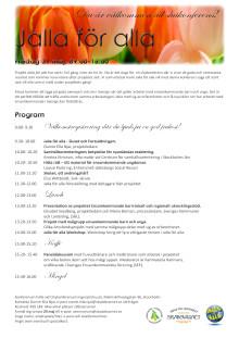 Inbjudan till Jallas slutkonferens  31 maj 2013