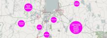 Stadsnätet byggs ut i områden kring Huskvarna, Skänkeberg, Västersjön, Månsarp, Bunn och Ryd