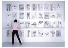 Pressevisning i utstillingen Prisme. Tegninger fra 1990 til 2012
