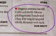Calle Hagman får veckans ros i Kungsbacka-Posten