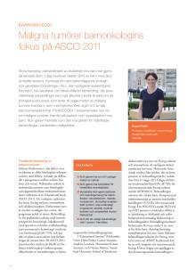 Professor Susan Pfiefer – Barncancer, nya rön inom sarkom och neuroblastom