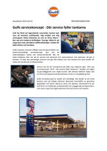 Gulf servicekoncept  - där service fyller tankarna