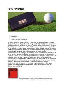 PutterPractise nytt golfträingshjälpmedel
