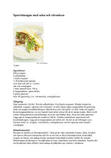 Sparrislasagne med salsa och citronkeso
