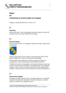 Regler för användning av kommunvapen och logotyper