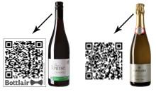 QR-koder visar franska vinare